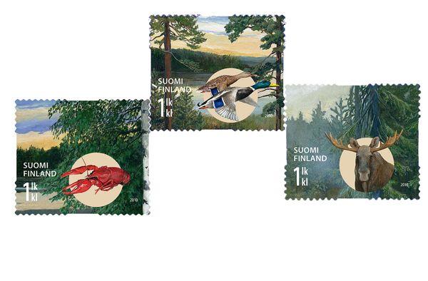 €2.55 Syksyllä - kolmen (3) postimerkin pienoisarkki