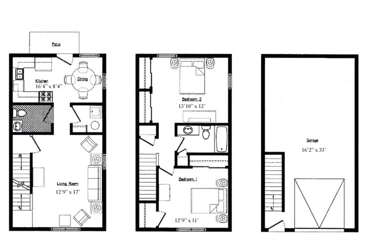 2 bedroom garage apartment floor plans: 2 car garage apartment floor plans