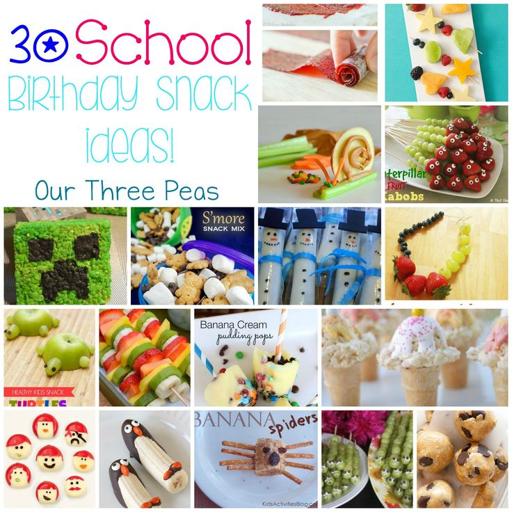school birthday snacks