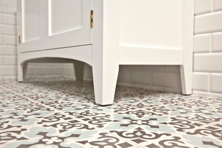 Patterned Bathroom Floor Tiles Pinterest