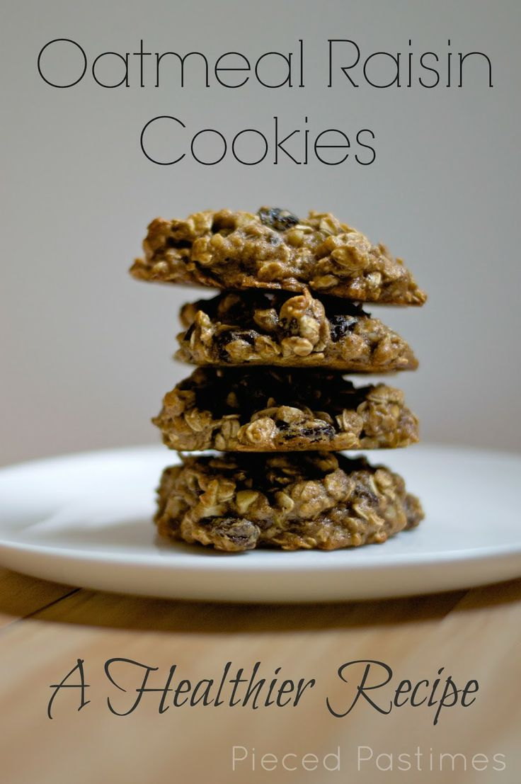 oatmeal raisin cookies a healthier version oatmeal raisin cookies ...
