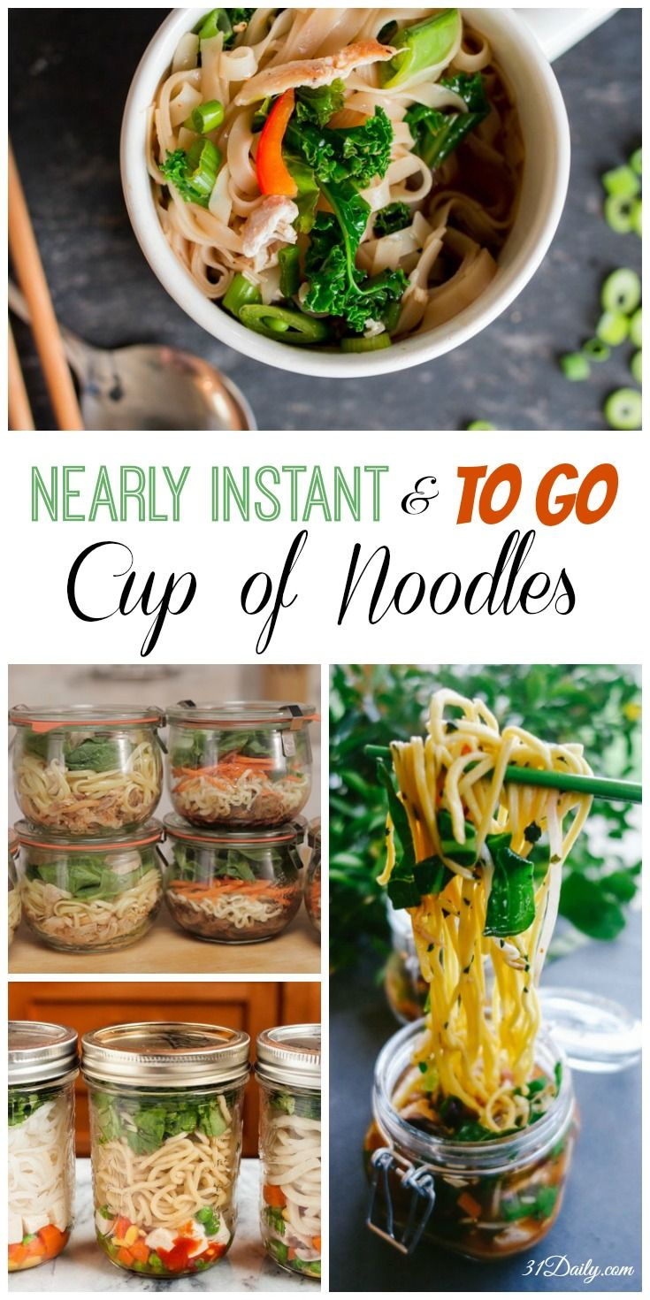 Nearly Instant Homemade Noodle Cups - Healthy Lunches To Go   31Daily.com