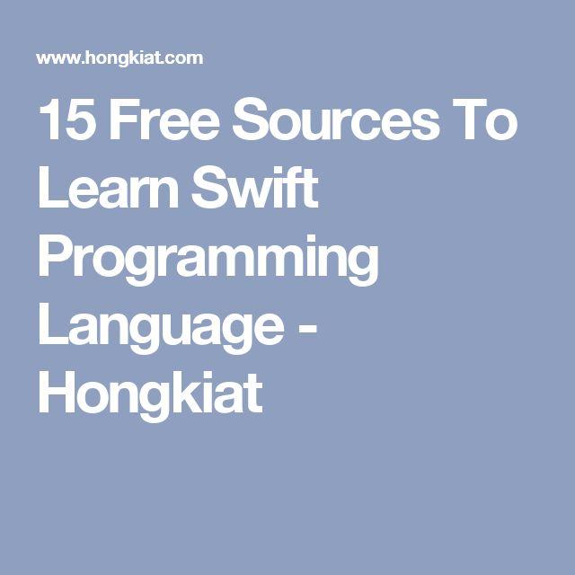 15 Free Sources To Learn Swift Programming Language - Hongkiat