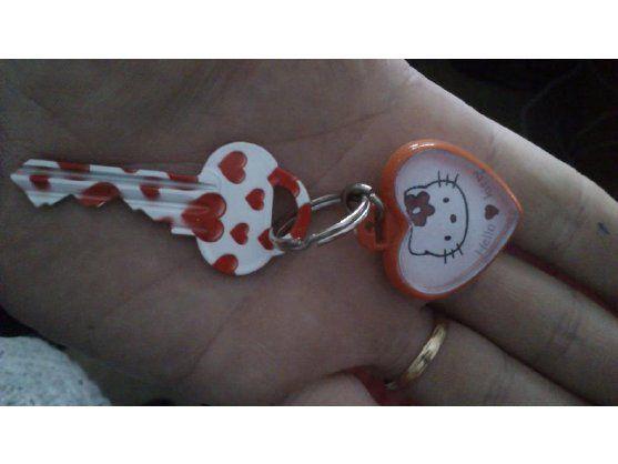 Nachdem ihr Sohn dreimal seinen Schlüssel verloren hatte, bekommt er nun einen tollen neuen Schlüssel mit hoher Auffindwahrscheinlichkeit.