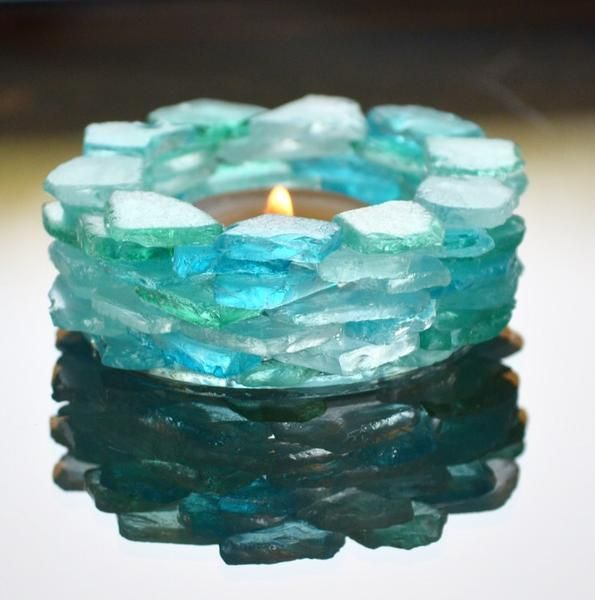 Beach Glass Candle Holder – The New England Beach Company