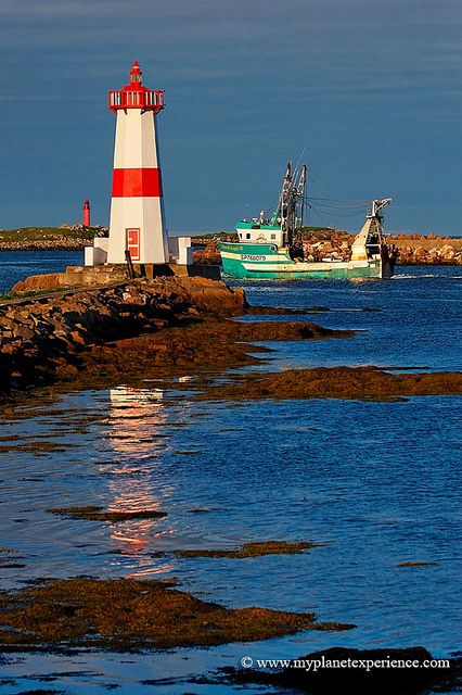 Pointe aux Canons Lighthouse at Saint Pierre and Miquelon, France