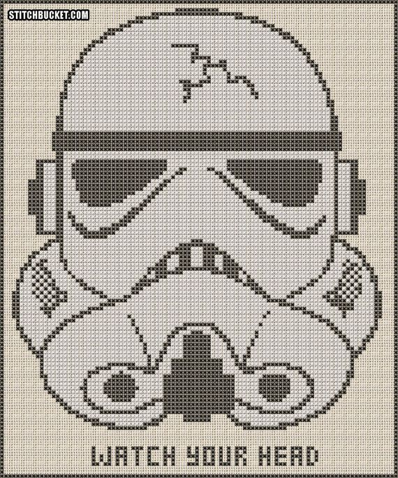 Stormtrooper Cross Stitch Pattern on Etsy, $4.31 CAD