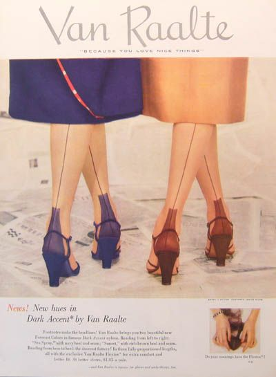 Stockings With The Seams 40s 50s Vintage Color Photo Print