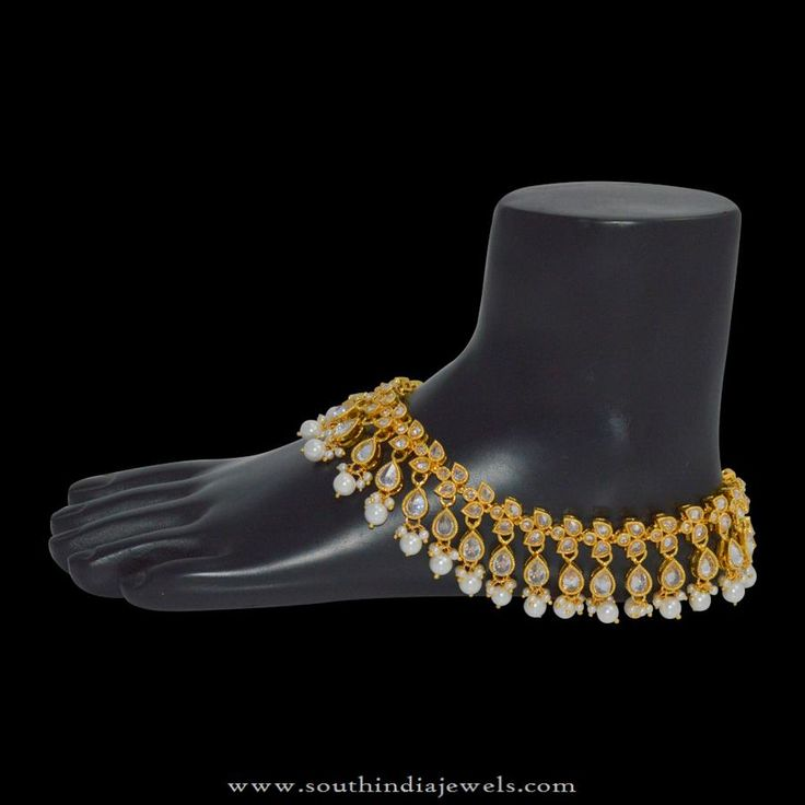 1gm Gold Anklet Designs, 1gm Gold Plated Anklet Designs
