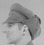 The British M1915 trench cap, known to the British as the Gor blimey it was used by some Canadian troops in 1915 ~ 1916 for cold weather wear. http://www.rootsweb.ancestry.com/~canmil/ww1/army/equip.htm