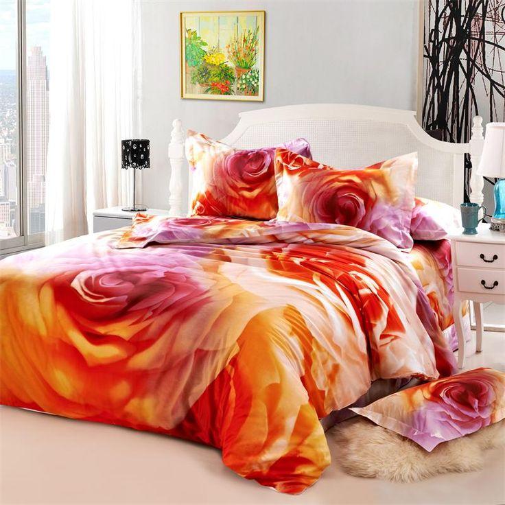 Barato Chinês rosa Rosa 3D Jogo de Cama Queen Size, 100% Algodão Floral Quilt Cover Lençois Fronha Têxteis Quarto Cama em um saco, Compro Qualidade Conjuntos de cama diretamente de fornecedores da China: Chinês rosa Rosa 3D Jogo de Cama Queen Size, 100% Algodão Floral Quilt Cover Lençois Fronha Têxteis Quarto Cama em um saco