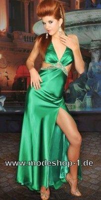 Sexy Satin Abendkleid in Grün
