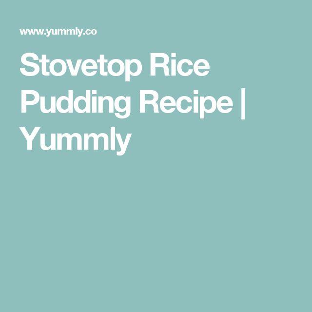 Stovetop Rice Pudding Recipe   Yummly