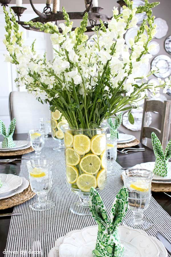 My 2016 Spring Home Tour Lemon SliceFloral CenterpiecesFloral Arrangements Table