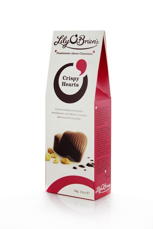 Honeycomb Crispy Heart Pouch, 7 Chocolates, 98g available at LilyOBriens.ie