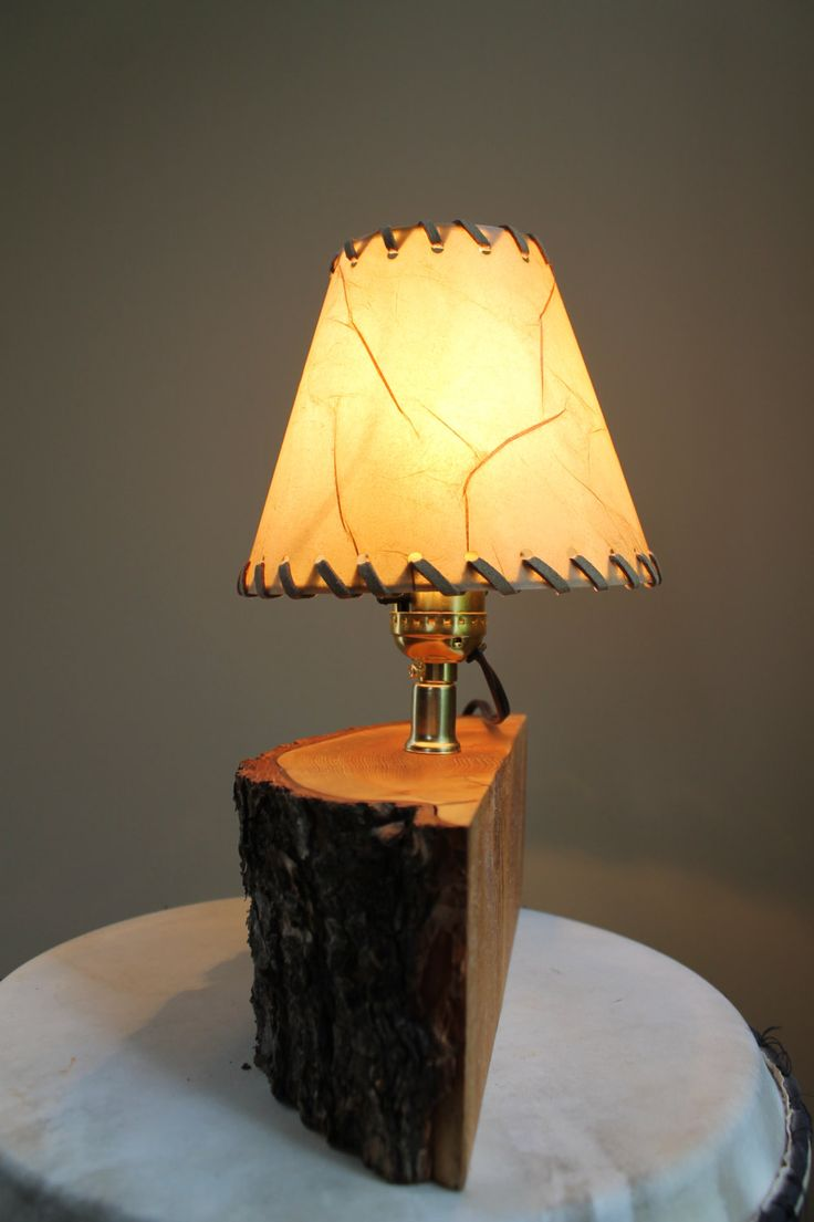 Tips to buy a proper desk lamps lighting and chandeliers - Live Edge Wood Lamp Cabin Nightstand Lamp Wood Desk Lamp Home Decor