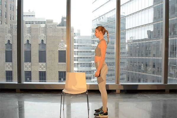 Chair & Band Exercises: How to do the Advanced Step-Ups