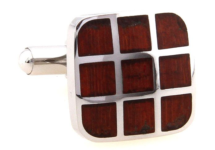 These premium cufflinks feature 9 squares of polished rosewood inlaid in stainless steel. Simple but special, the stylish design will prove to be invaluable in your collection. Designed to suit everyone and anyone, these cufflinks are the perfect addition to your wardrobe. Better still, they the perfect gift for that person in your life that is impossible to buy for.