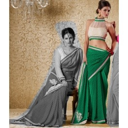 Deep Green Bhagalpuri Silk Saree