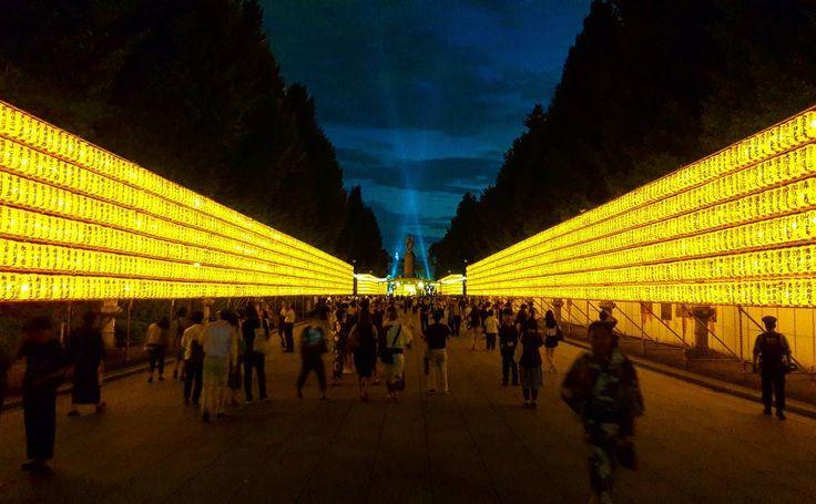 Mitama matsuri in Yasukuni shrine  ーーー #japan #tokyo #japaneseculture #matsuri #mitama #shrine #lantern #yellow #light #shinto #student #exchange #discovery #みたま祭り #祭り#靖国神社 #きれいな #evening #夜 #東京 #日本 #にほん #文化 #bestpic #instapic #asia #asie #festival #étudiant http://butimag.com/ipost/1558102647914184694/?code=BWffhpkhT_2