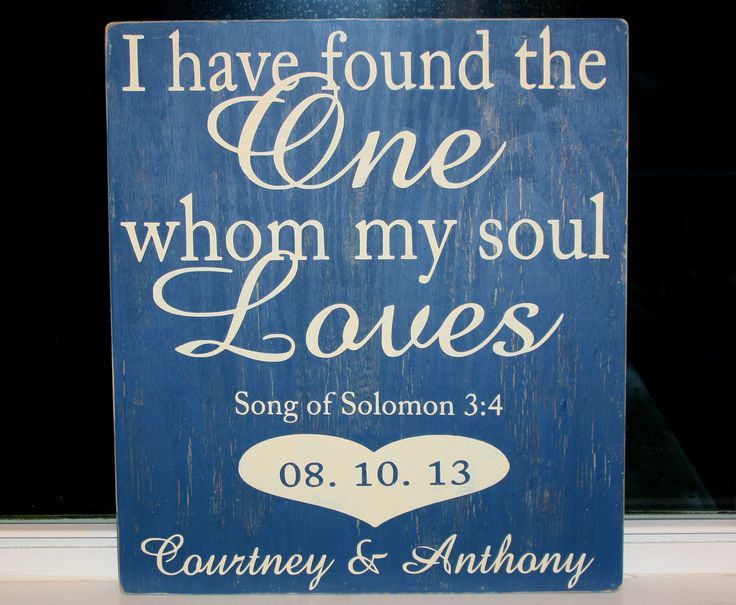 """I have found the one whom my soul loves"" My take on the popular Bible verse for a customer."