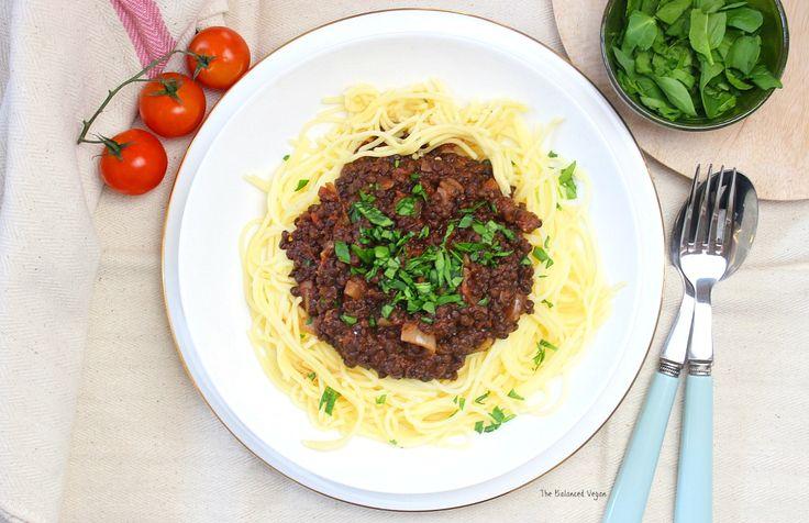 Easy Vegan Lentil Bolognese with @SumaWholefoods Beluga Lentils