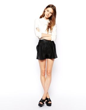 ASOS Leather Look Shorts