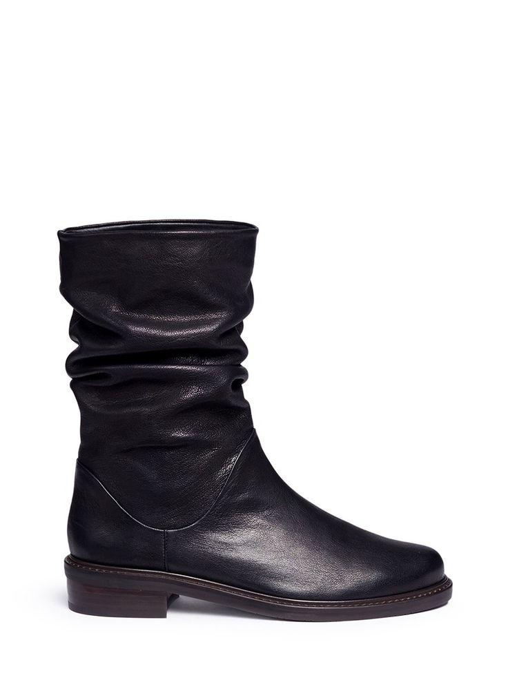 Stuart Weitzman 'Spartan' leather mid calf boots