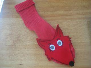 Dr. Seuss' Fox in Sox Sock Puppet | preschool themes Dr. Seuss ...