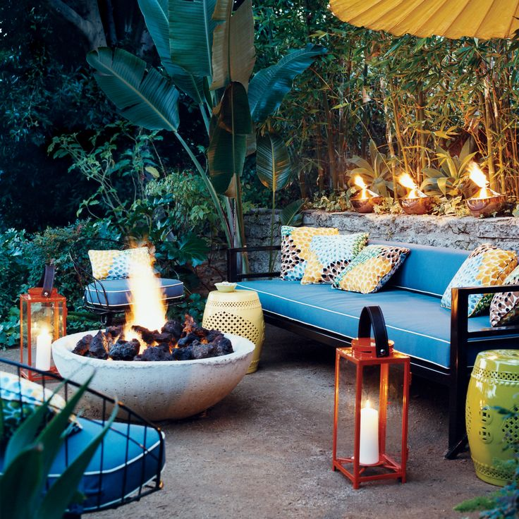 The Patio Anyone Can (and Should) Copy: Source: Domino So here's the deal.
