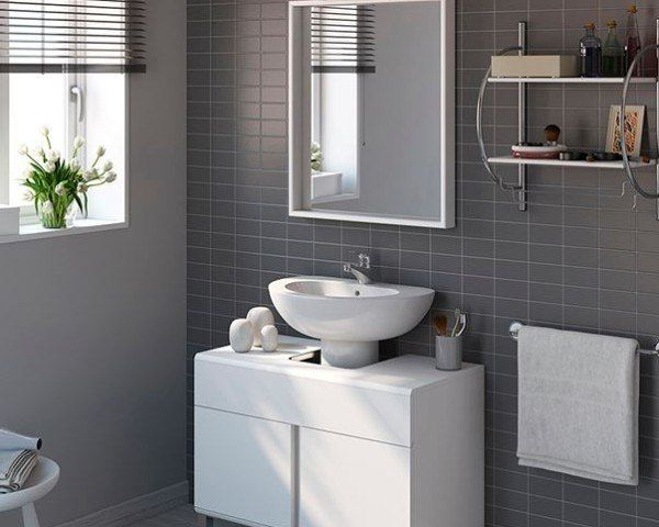 Bano Pequeno General Ikea Azulejo Muebles De Lavabo Lavabo De
