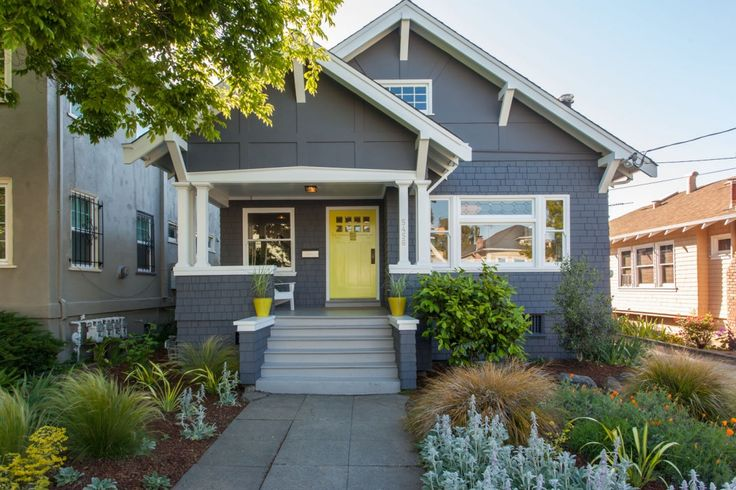 painting glass stucco bungalow house before and after - Google Search