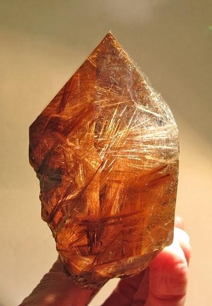 Rutilated smokey quartz, Ibitiara, Bahia, Brazil