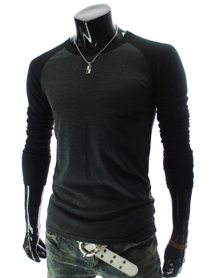 Two Tone Slim Fit Long Sleeve :: he might actually like this kind of top for riding #bmx