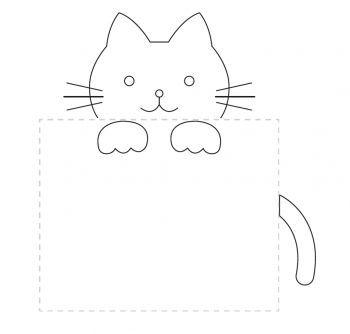 Pocket Kitty Embroidery Pattern