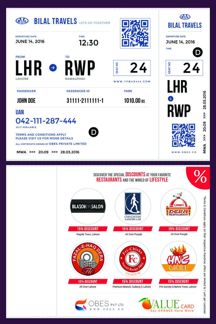 Bus ticket concept bilal travels bus tickets travel