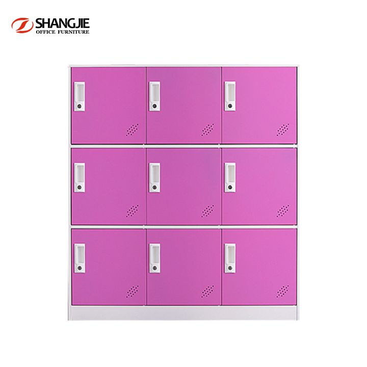 Locker Storage Cabinet with 2 Compartment Office School Gym Dress Changing Room