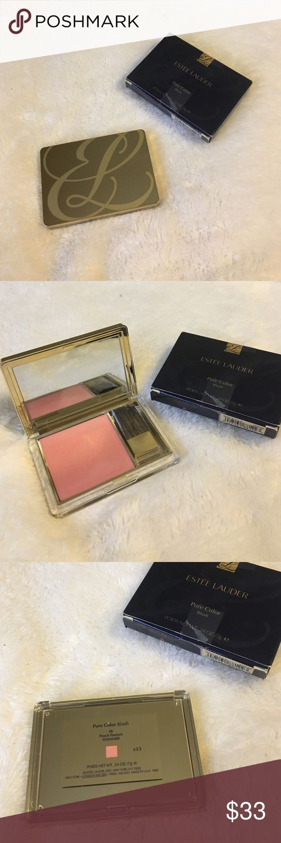 Estée Lauder pure color blush 🍑 08 peach passion shimmer                              👑 never used, comes with the box                      💯 100% authentic.                                                  💕beautiful color never got a chance to use this                                                                              💘 feel free to ask questions or give me an offer Estee Lauder Makeup Blush