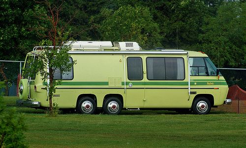The GMC Motorhome was built from 1973 to 1978 and were offered in different models with the Olds 455 engine and were FWD.  This one was repainted with the interior still all original AND like new. The owner said he will keep this baby a long time.  ( {Take a look  Low Cost on these  RV Tire Pressure Monitoring systems