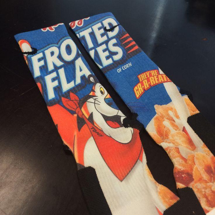 Frosted Flakes Custom Nike Elite Socks! www.FreshElites.com - 46 Best Socks Images On Pinterest