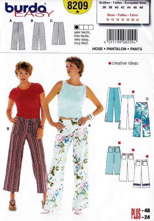 spodnie damskie - wykrój BURDA