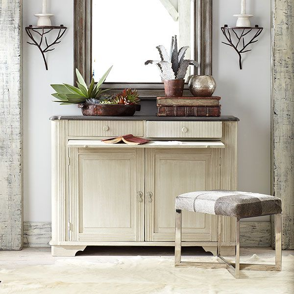 Wisteria - Furniture - Shop by Category - Consoles & Buffets -  Gray Gustavian Buffet - $999.00.53wx16.5dx38.25h