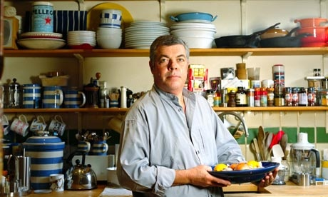 Chef Simon Hopkinson at his home in London