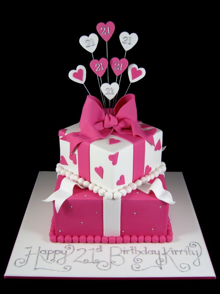 birthday-cake-ideas-21st-two-tier-pink-and-white-present-cake-inspired-by-michelle-cake-designs.jpg 750×1,000 pixels