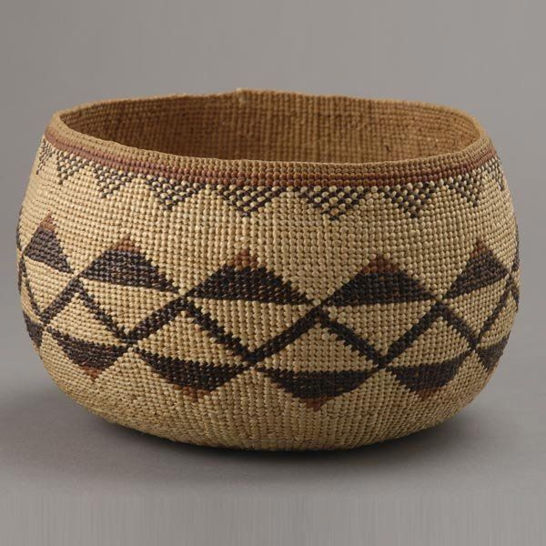 Hupa Indian Basket