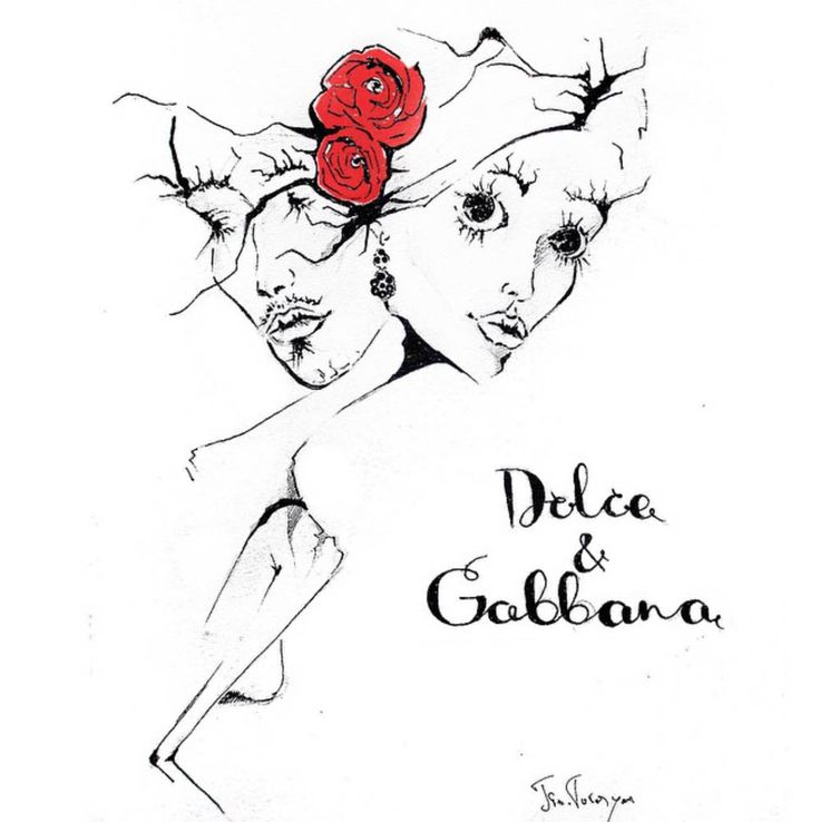 dolce and gabbanna.fashion illustration by Tio Torosyan