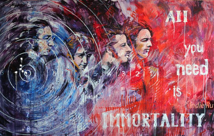 Acrylic painting for sale figurative art portrait The Beatles