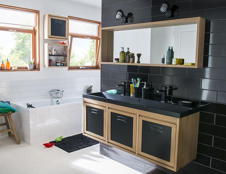 les 19 meilleures images du tableau salle de bain sur pinterest petite salle salle de bains. Black Bedroom Furniture Sets. Home Design Ideas