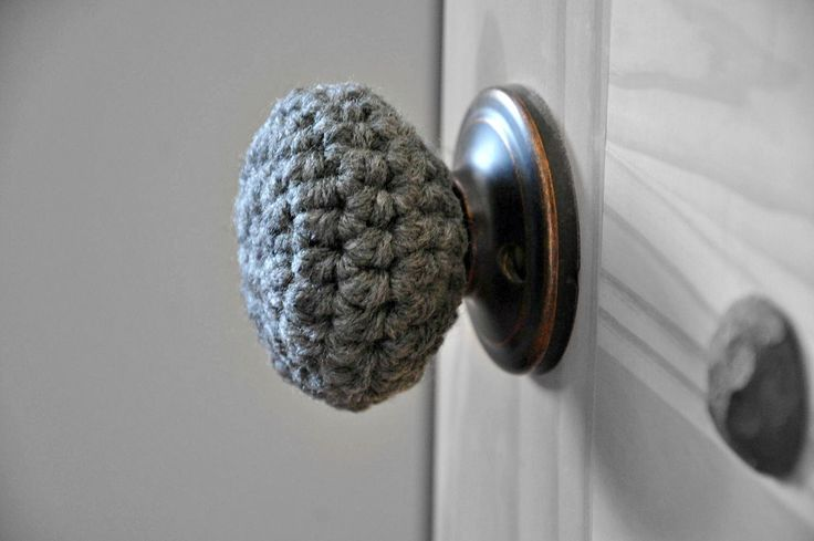 3 Child Safe Door Knob Covers Modern Design Toddler Protection Crocheted Home Decor Custom Colors by AandBDesignStudio on Etsy https://www.etsy.com/listing/248352074/3-child-safe-door-knob-covers-modern