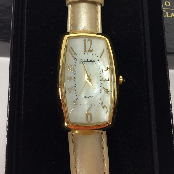 Joan Rivers Classics Collection Watch Metallic Leather Band Mother of Pearl Face #JoanRivers